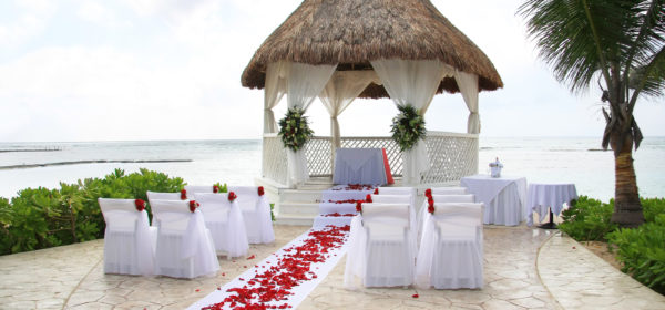 Vibrant Beach Wedding Reception Decor